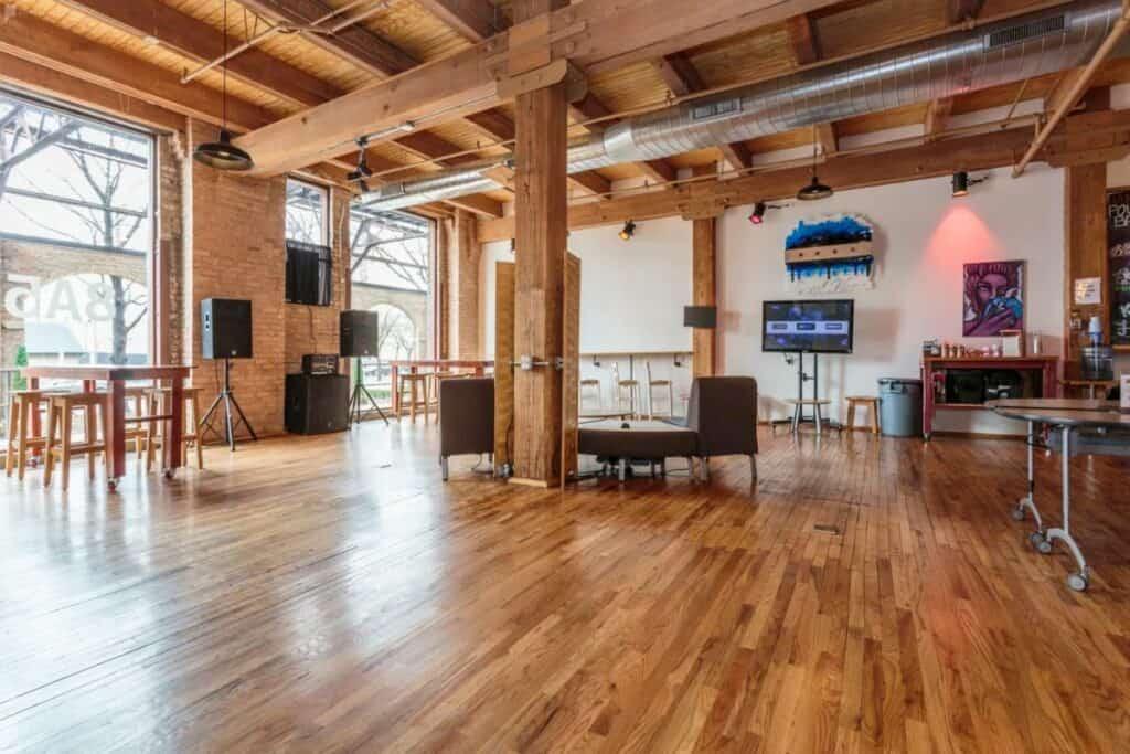 wood loft event space