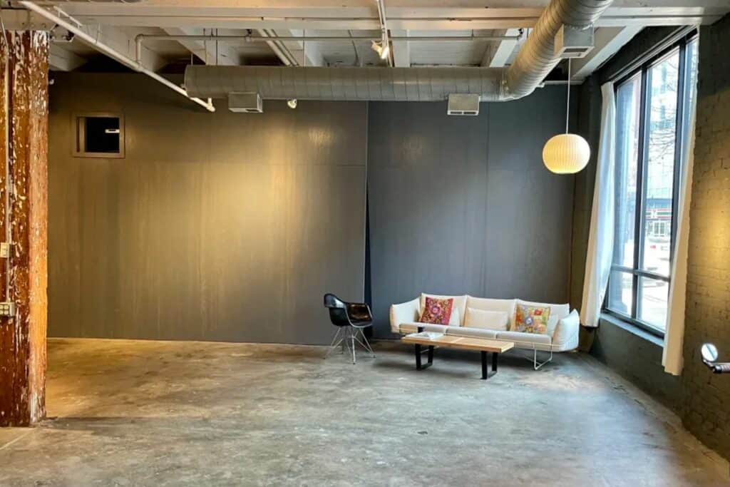 chic industrial gallery warehouse
