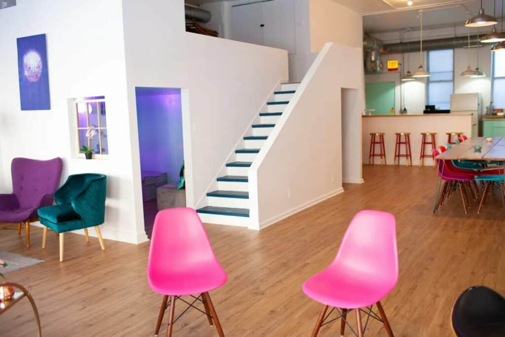 chic colorful loft and gallery