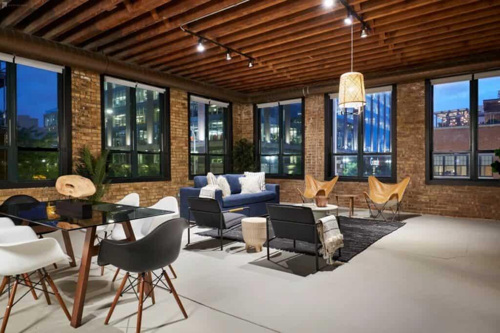 stylish modern spacious corner apartment