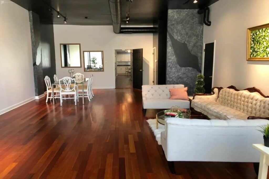 chic renovated storefront loft