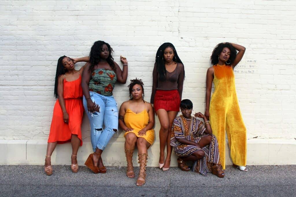women wearing fashionable outfits
