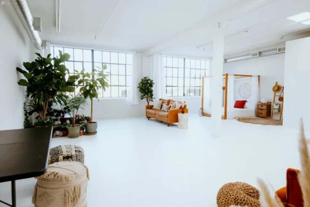 pristine natural light loft