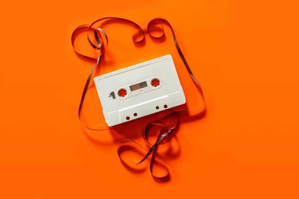 80s cassette tape