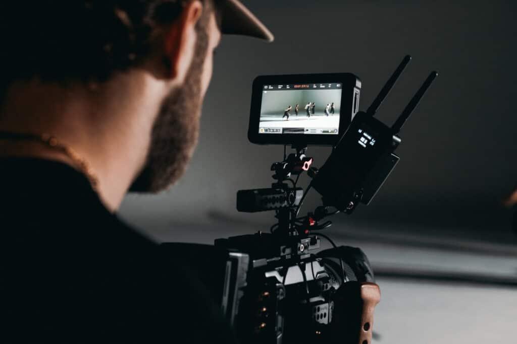 a director filming a scene