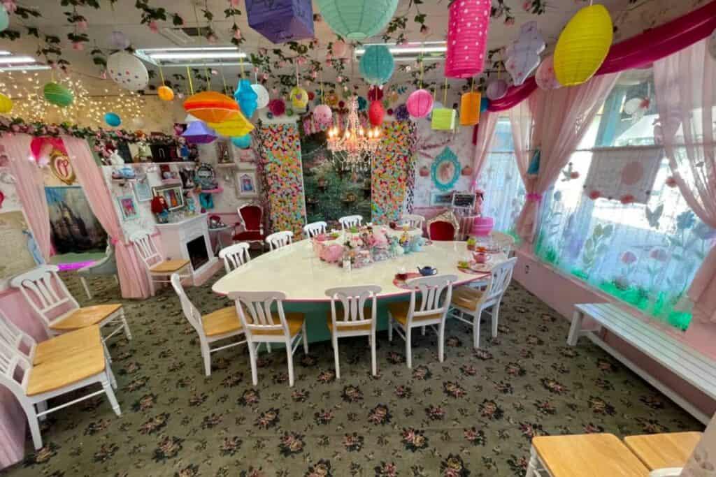 dollhouse costume shop tea party