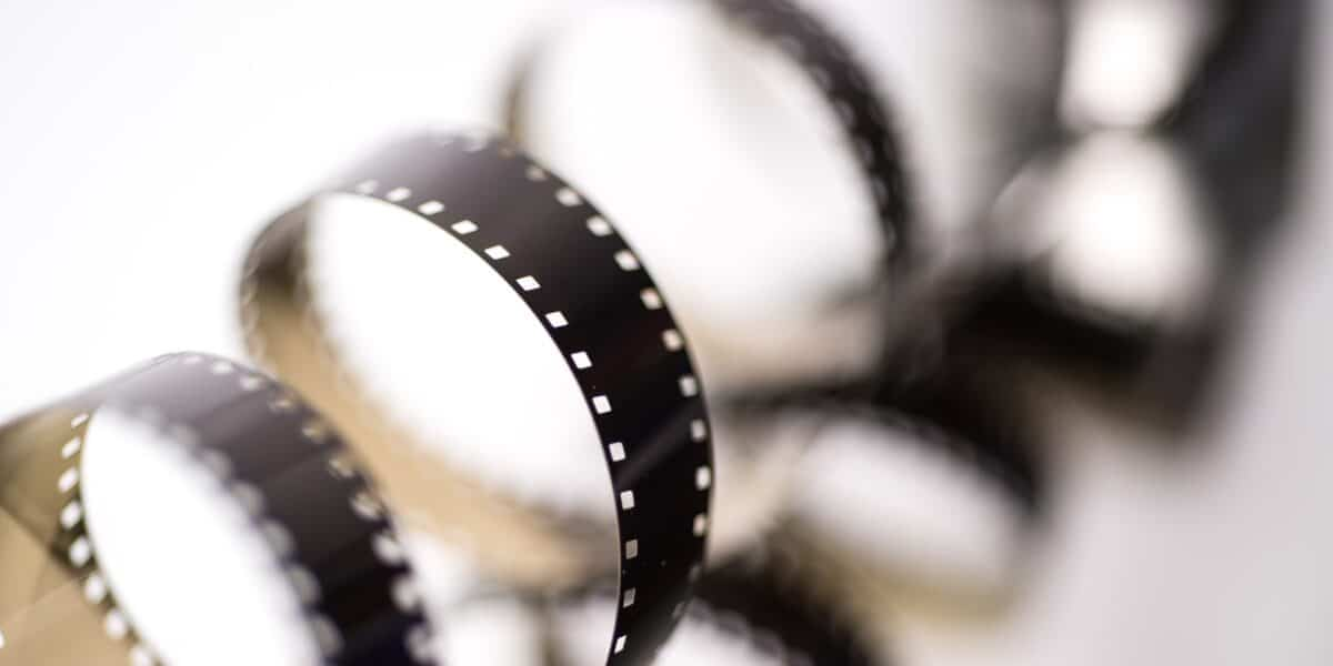 celluloid from film reel