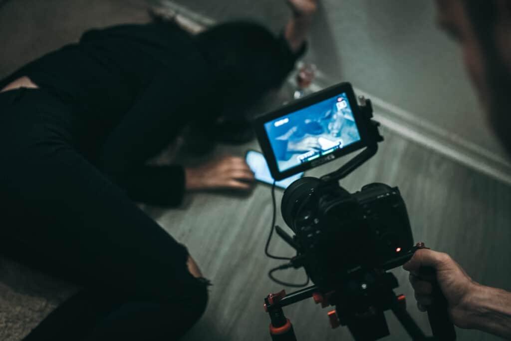 filmmaker shooting a movie scene