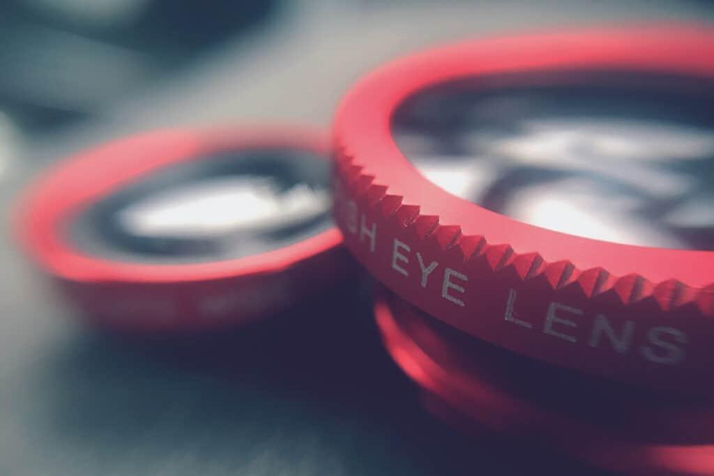 fisheye lens piece