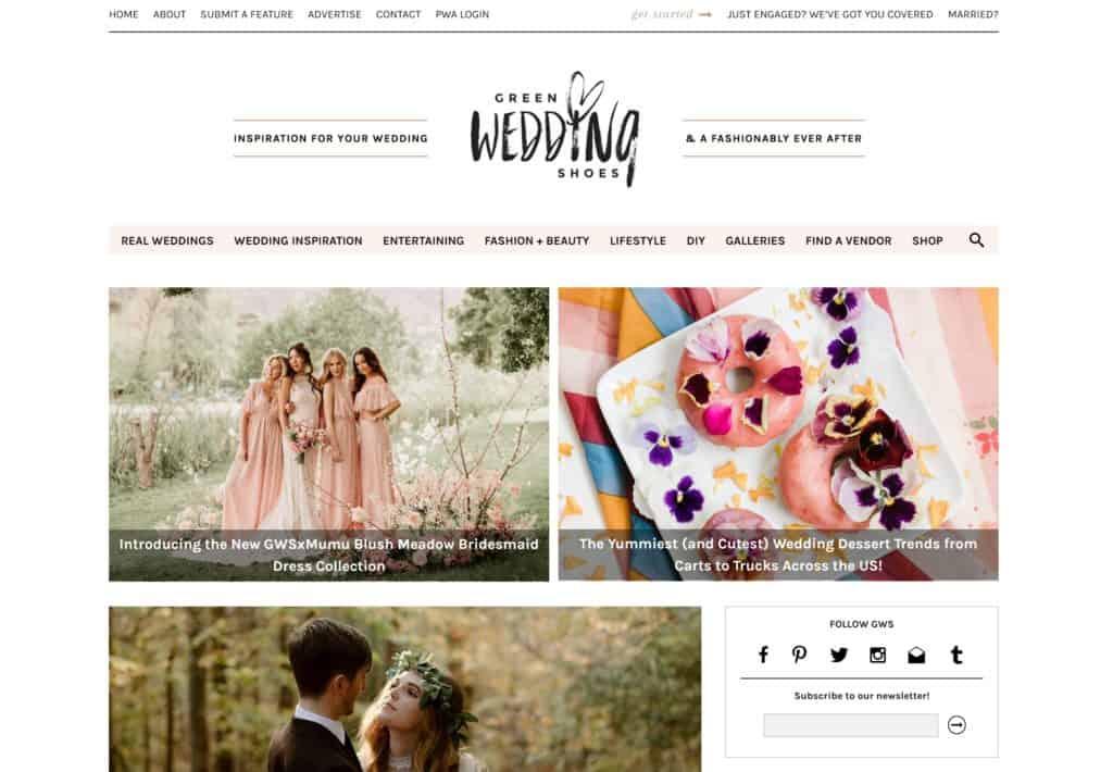 green wedding shoes homepage