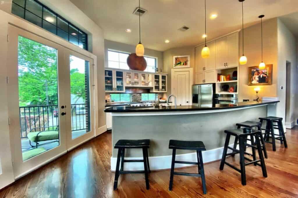 elegant modern chef's kitchen rental