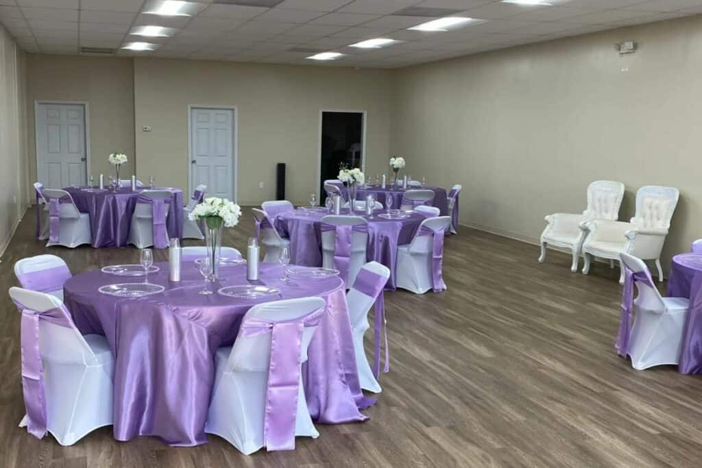 classic event space with indoor outdoor options