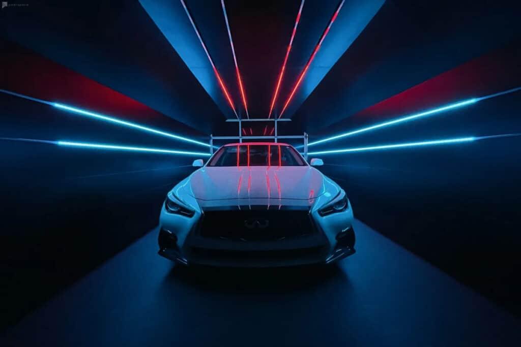car tunnel in vegas