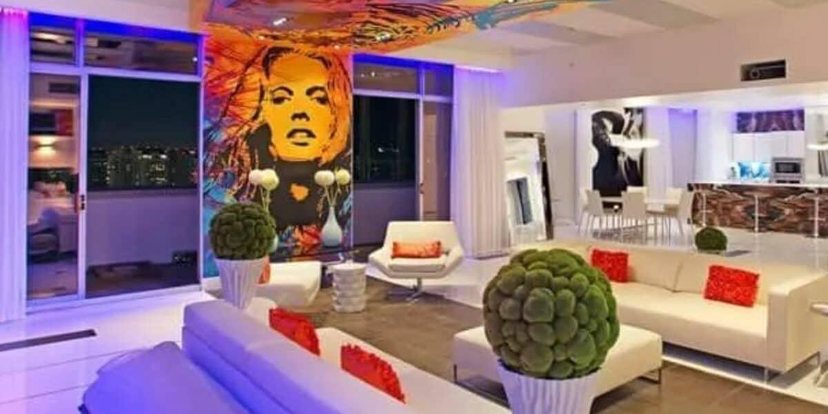 modern rock penthouse in vegas