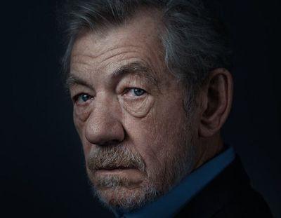 Sir Ian McKellen portrait by Liverpool portrait photographer