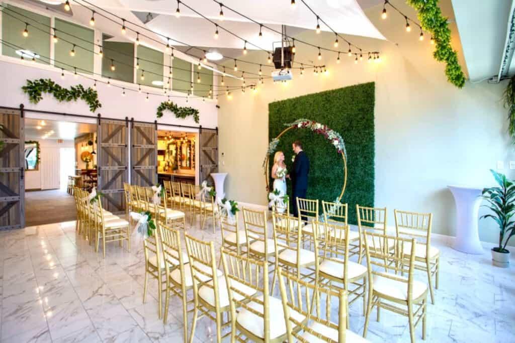 modern rustic wedding venue