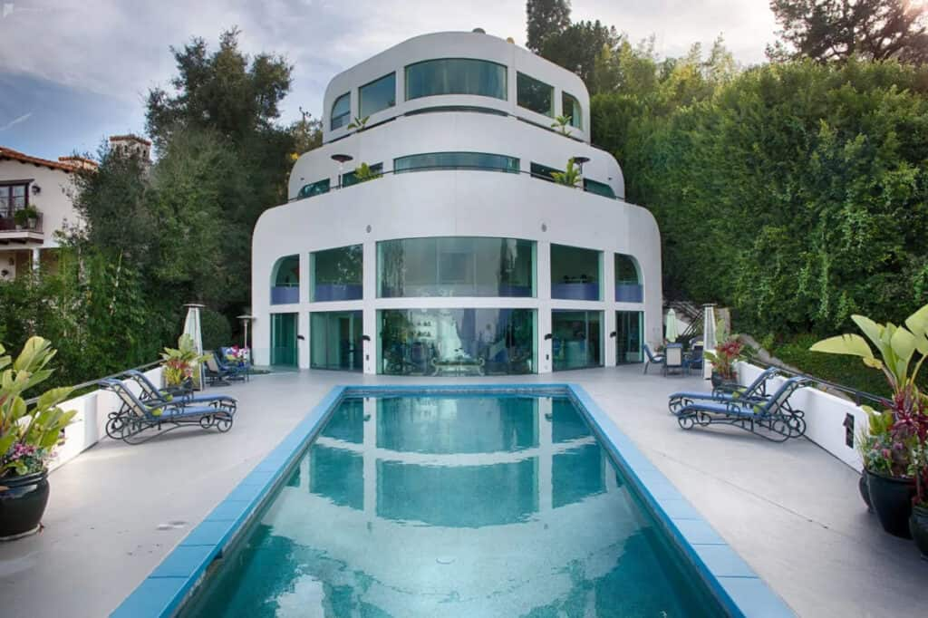 bel air mansion with yacht design