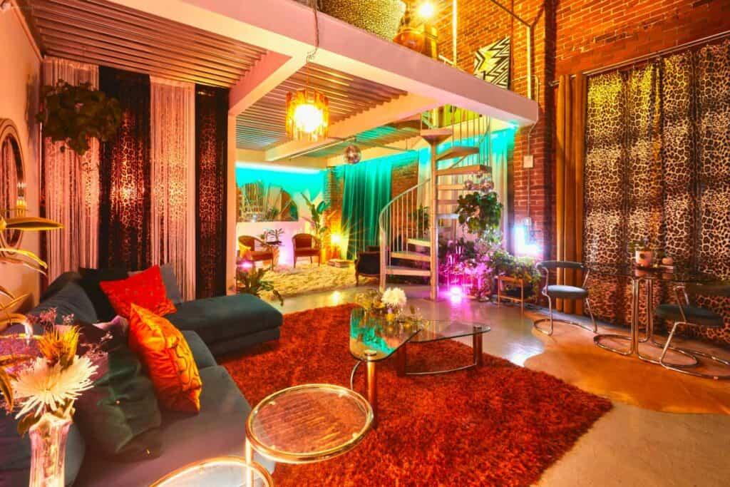 colorful jungle disco rental in LA