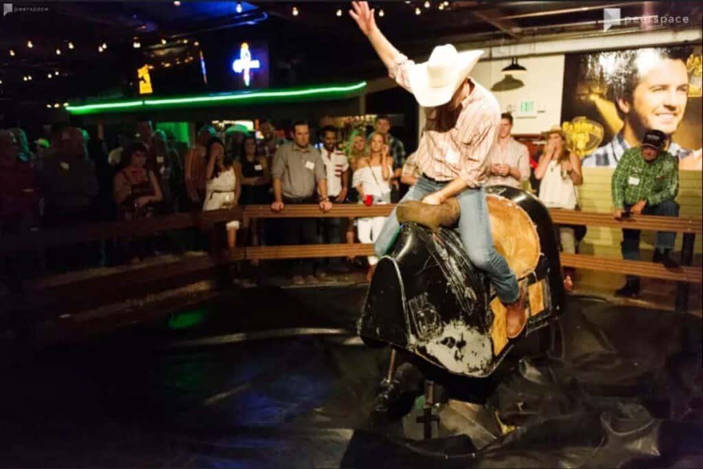 country nightclub with mechanical bull