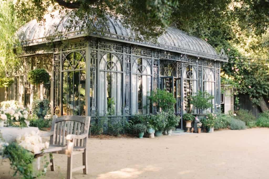 lush estate greenhouse in LA