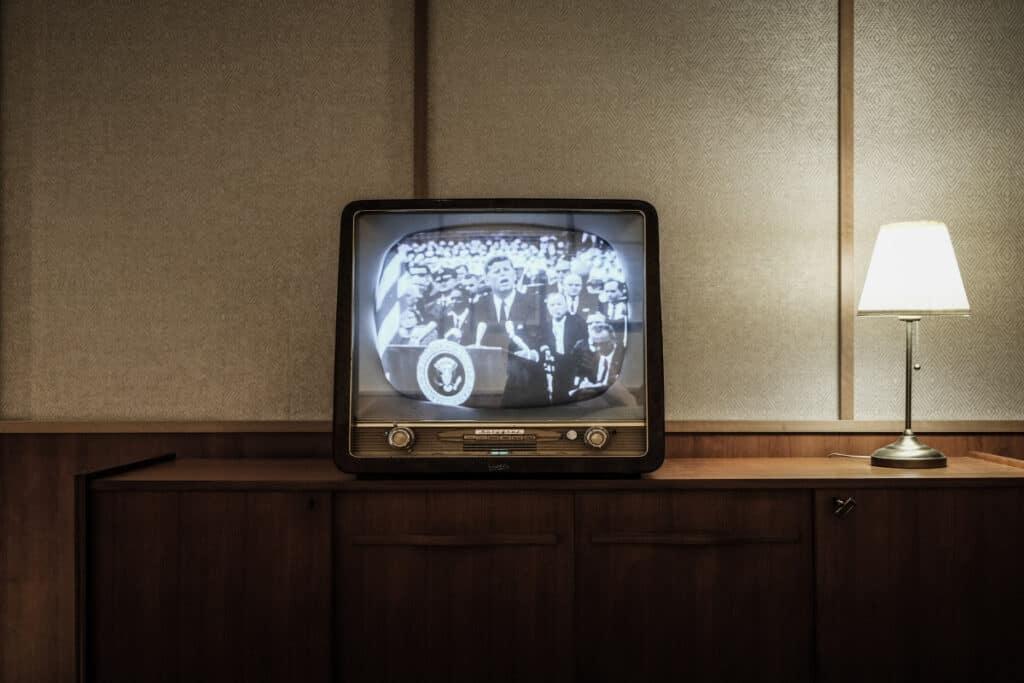 black and white tv vintage tv