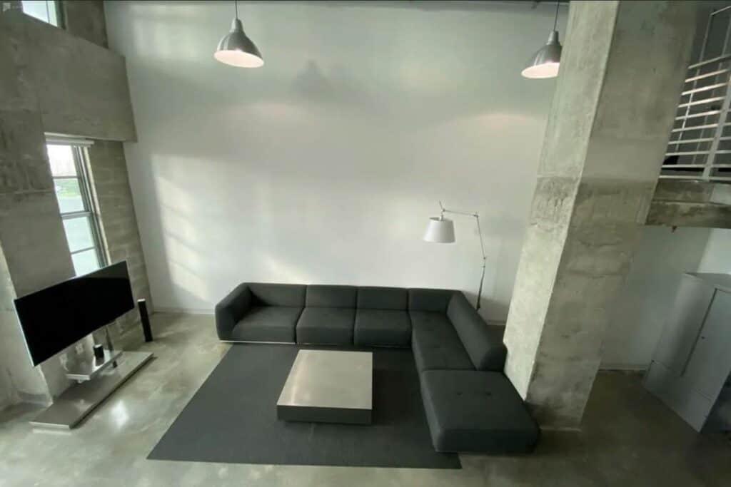 massive concrete minimalist mansion