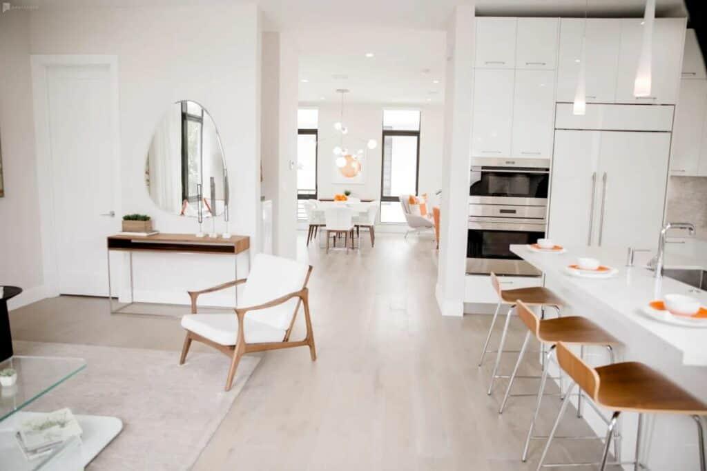 crisp, pristine, modern home