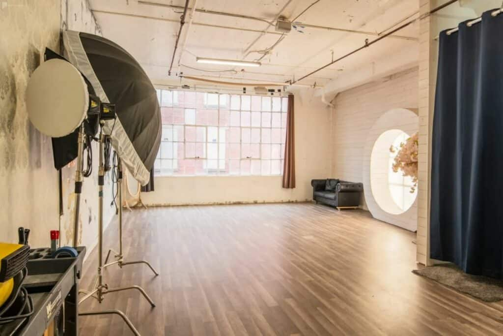 a pristine cottagecore studio