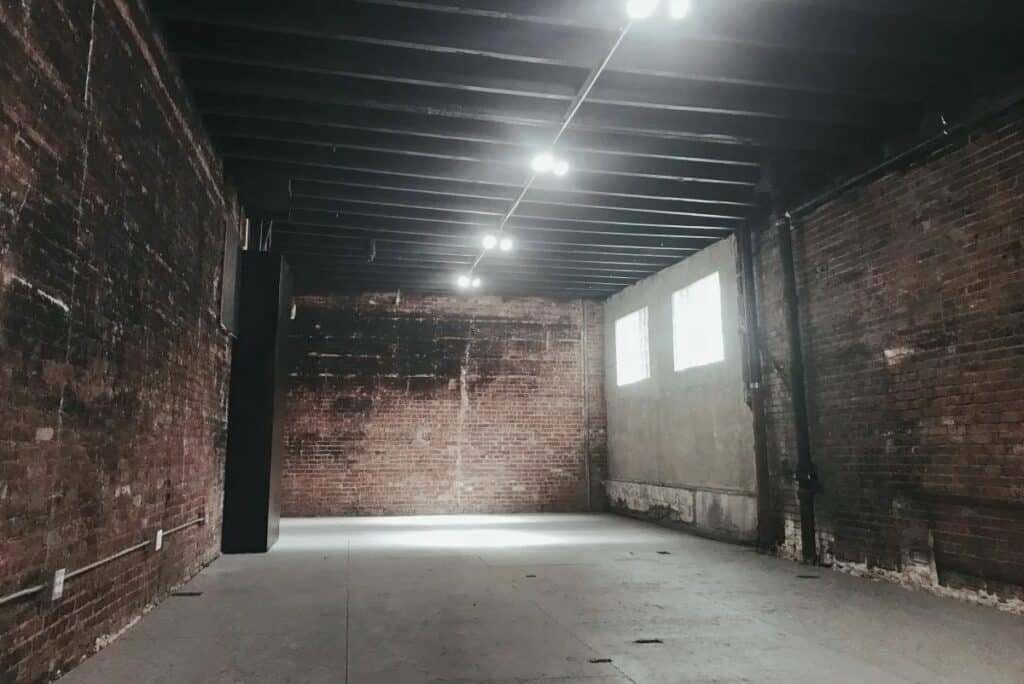 industrial studio with warehouse space