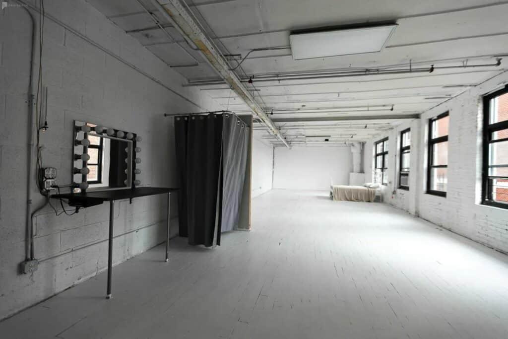 spacious soft light studio