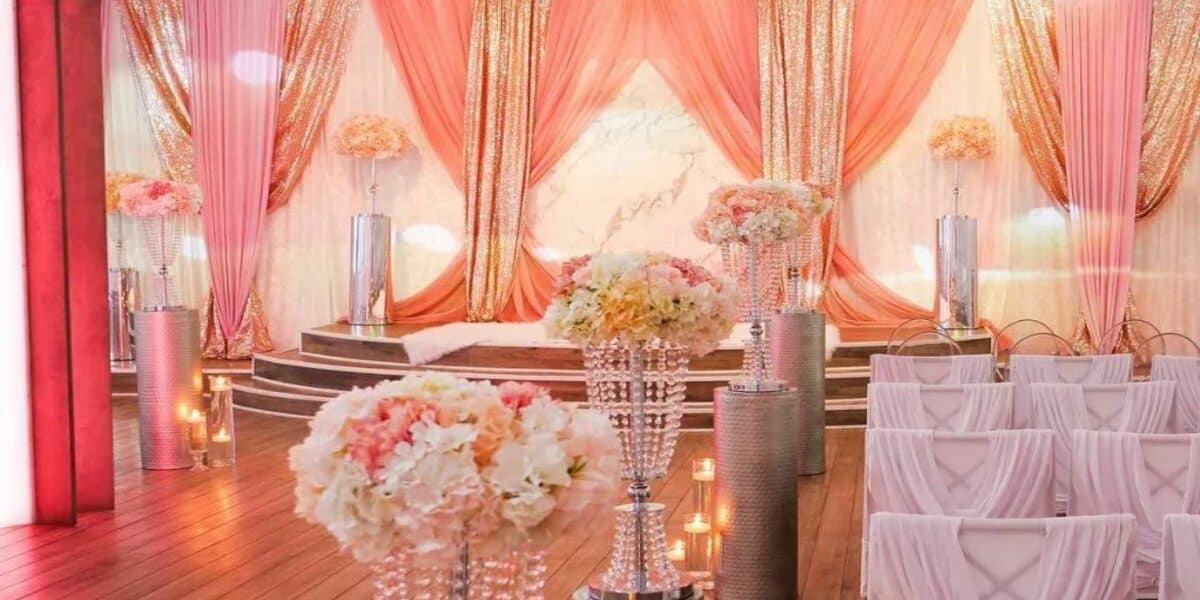 traditional wedding venue with performance space