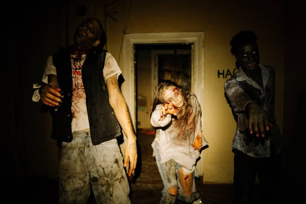 people dressed like zombies
