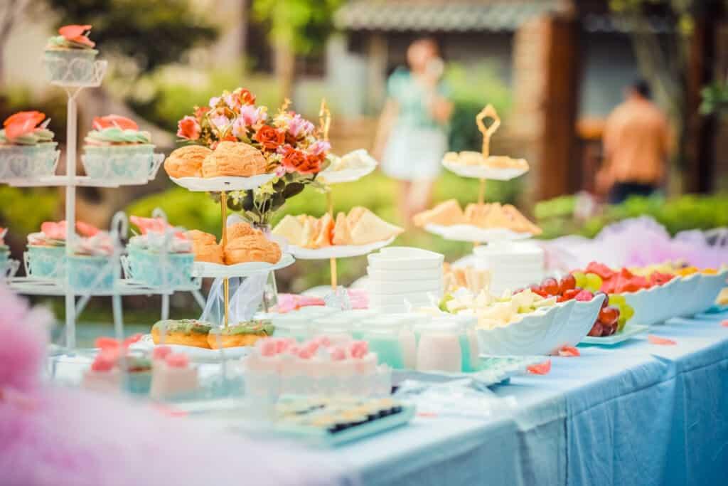 dessert buffet adoption party ideas