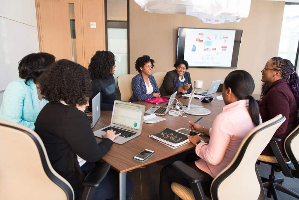 team sales meeting
