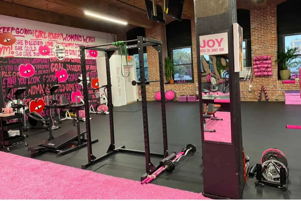 chic pink gym in philly