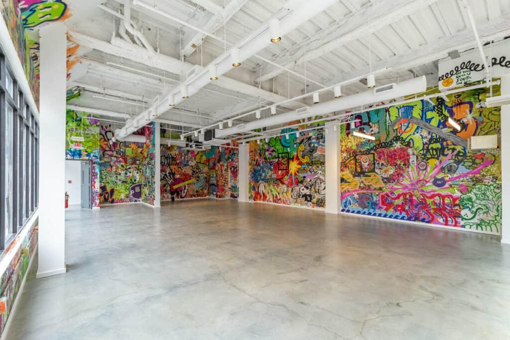 graffiti filled warehouse in philadelphia