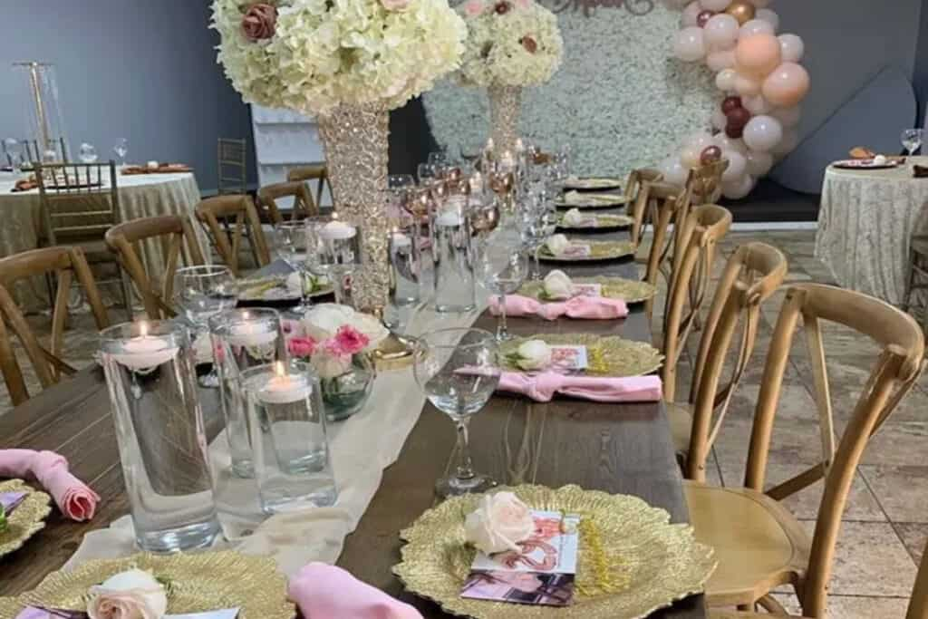 colorful and elegant event space