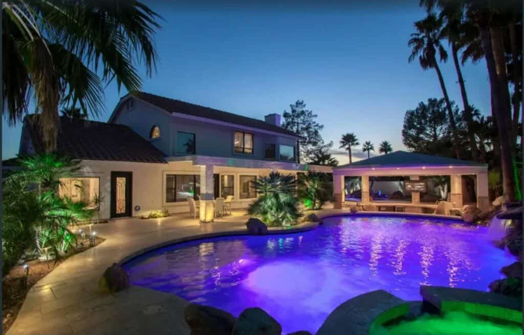 luxury home rental with pool