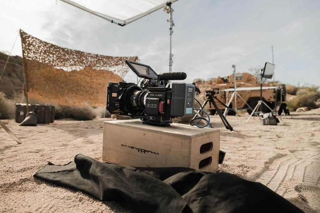 film production set and camera