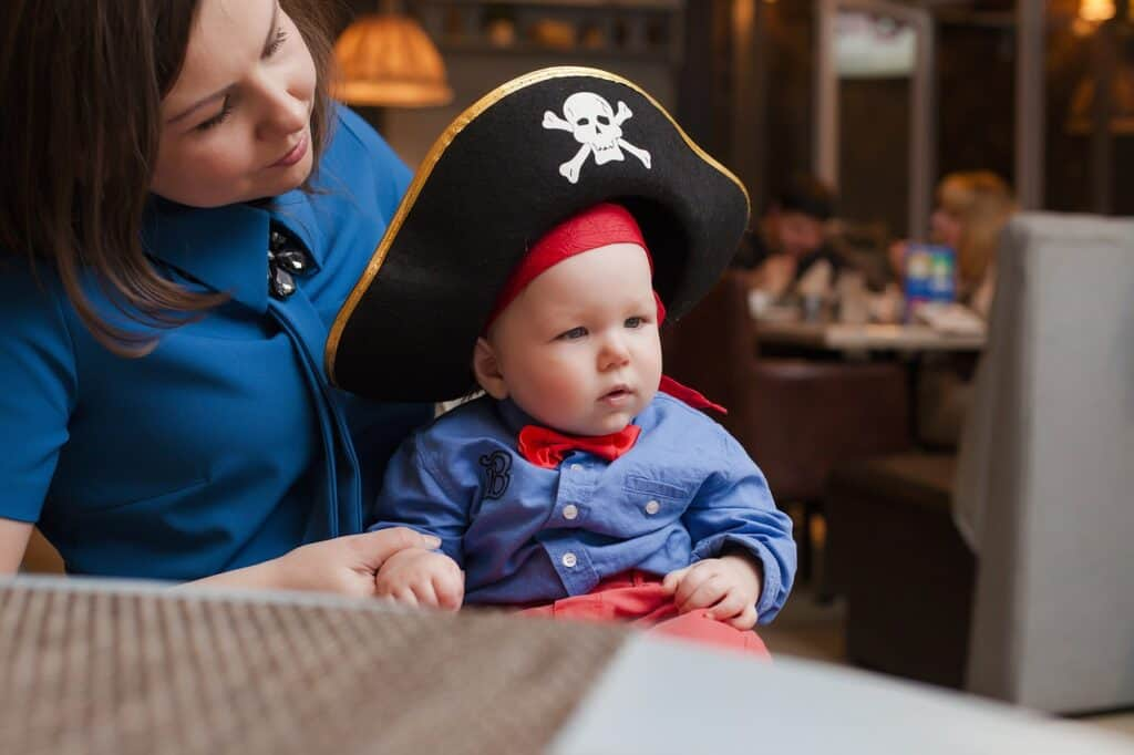 child dressed as pirate