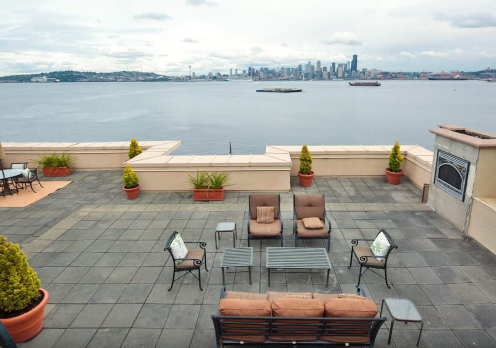 rooftop space alki beach penthouse seattle rental