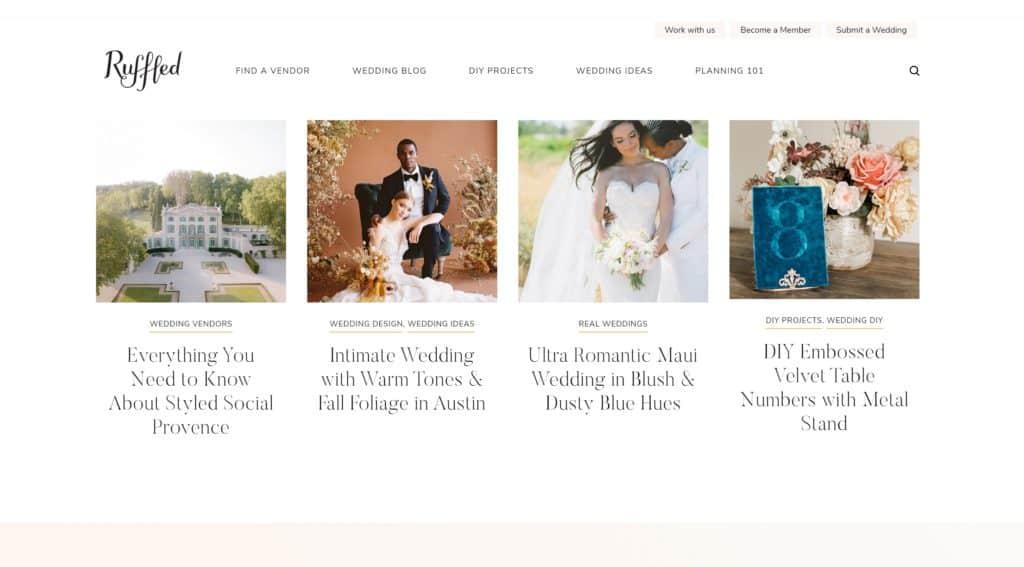 ruffled blog homepage
