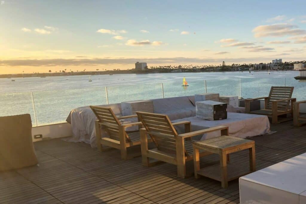 rooftop venue with bay views