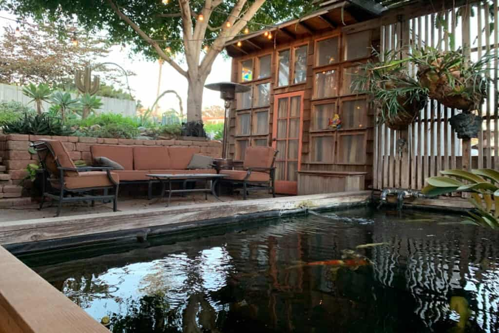 zen filled urban oasis yard and patio