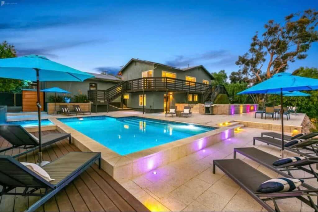 resort-like home with pool and spa