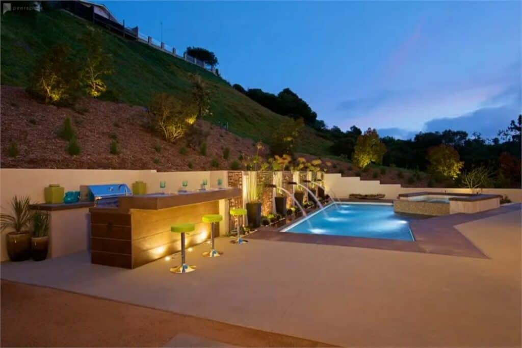 luxury private pool bar and home