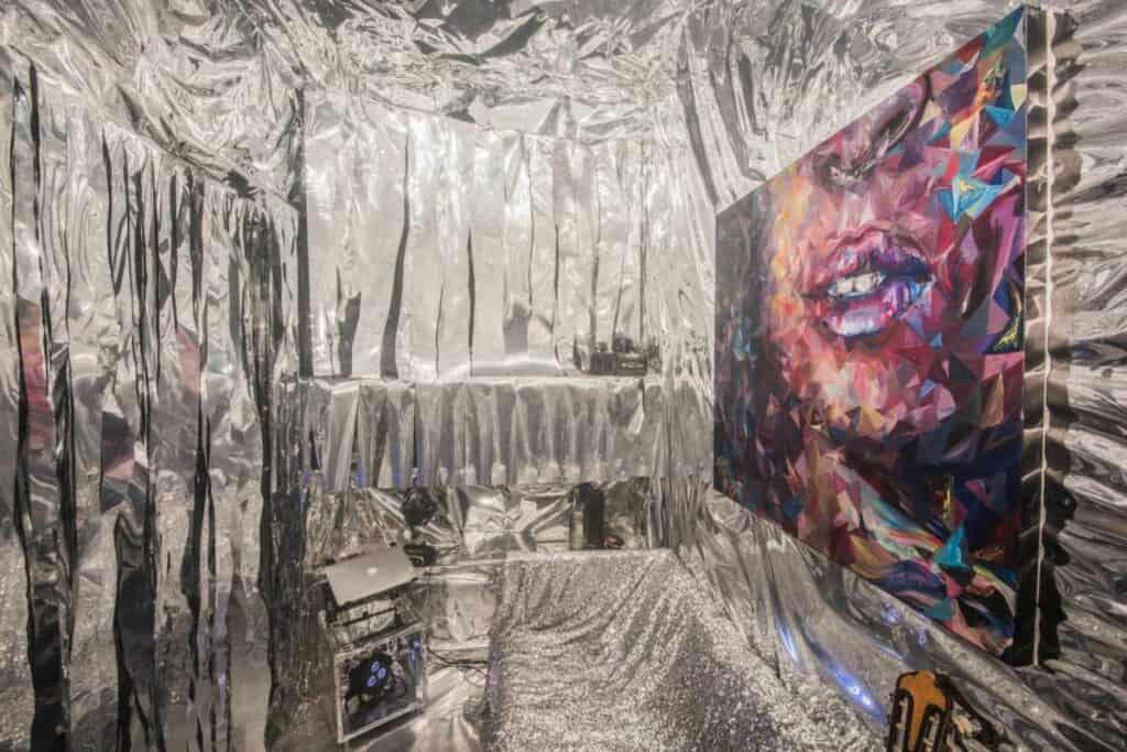 mylar mirrored studio