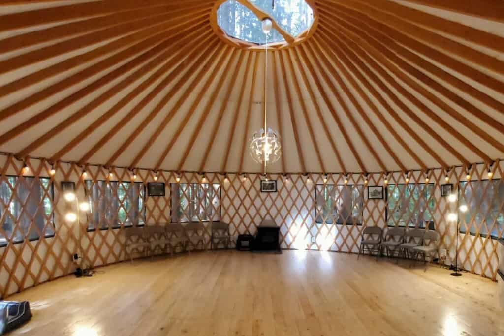 treehouse yurt in the emerald forest