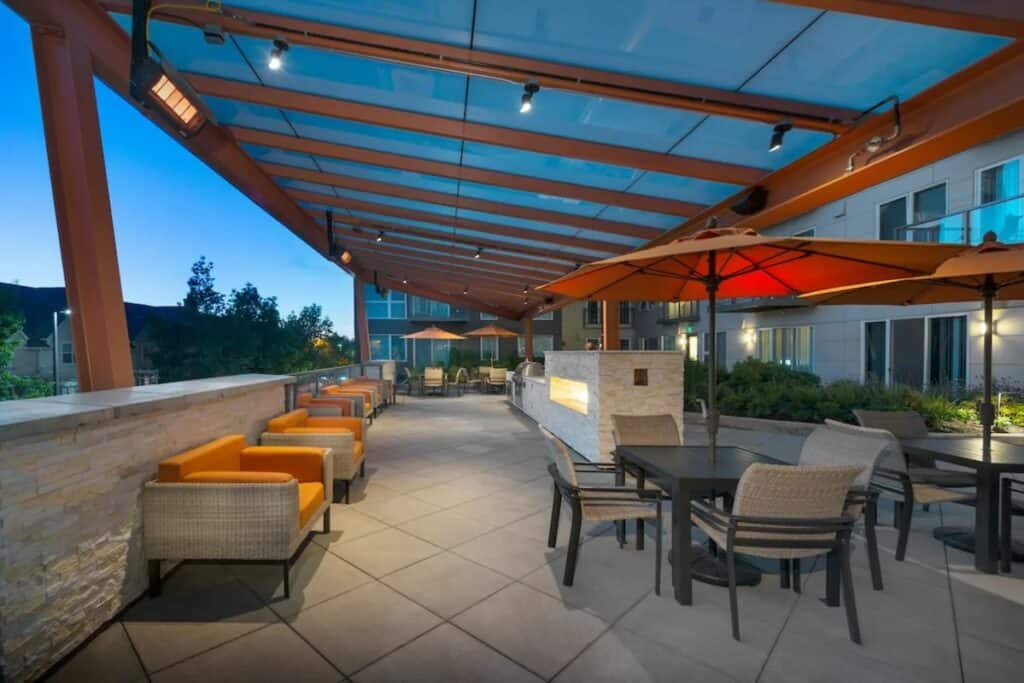roof deck with grill and hot tub in redmond