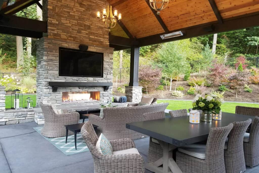 outdoor covered event space retreat
